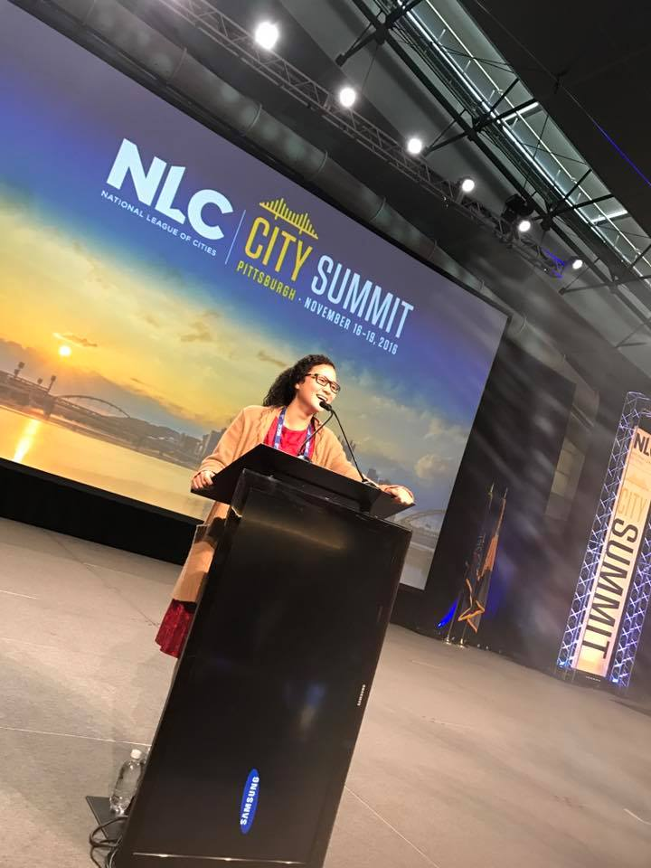 Our very own Chair, Delphia Lloyd, speaking at NLC