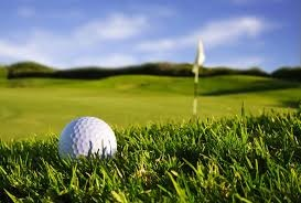 photo of golf ball and flag