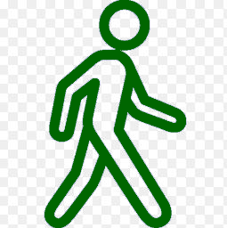 Walking Man Green