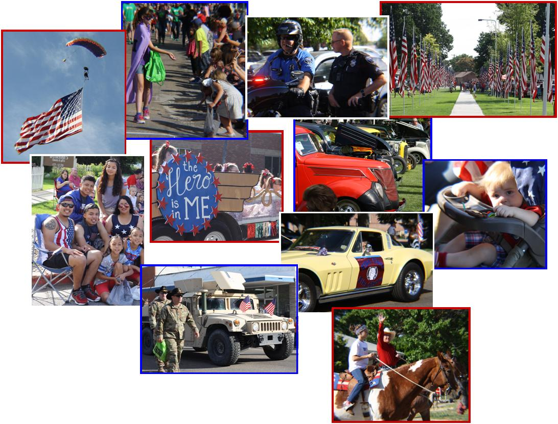 Collage of 4th of July celebration images