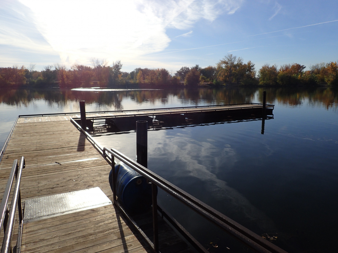 Rotary Pond - new dock 2017