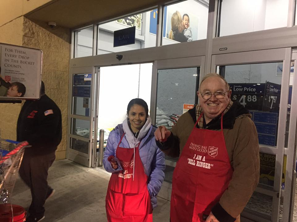 Myor's Youth volunteer as bell ringers