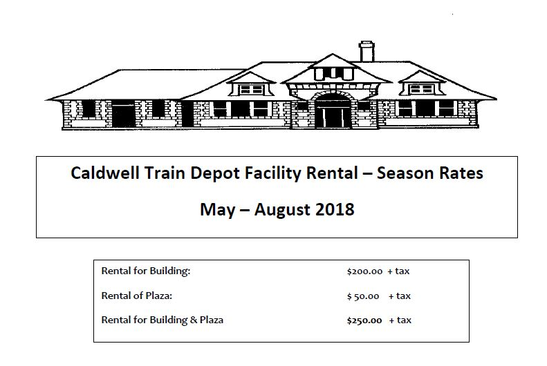 Train Depot Summer rate schedule
