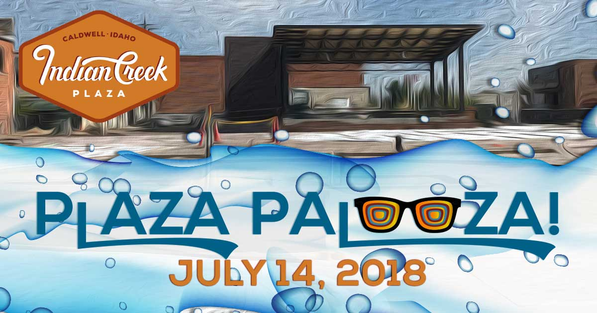 Plaza Palooza graphic for Indian Creek Plaza event