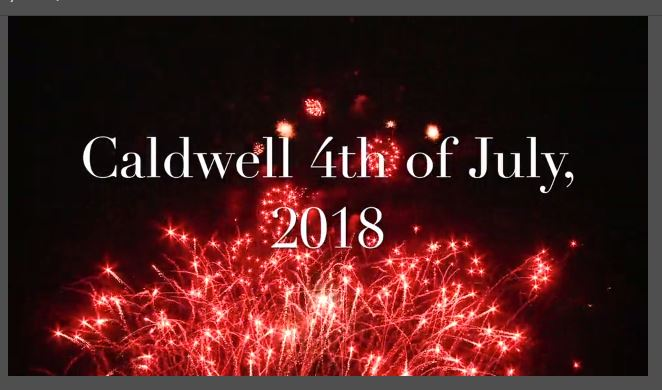 Start screen for 2018 4th of July video