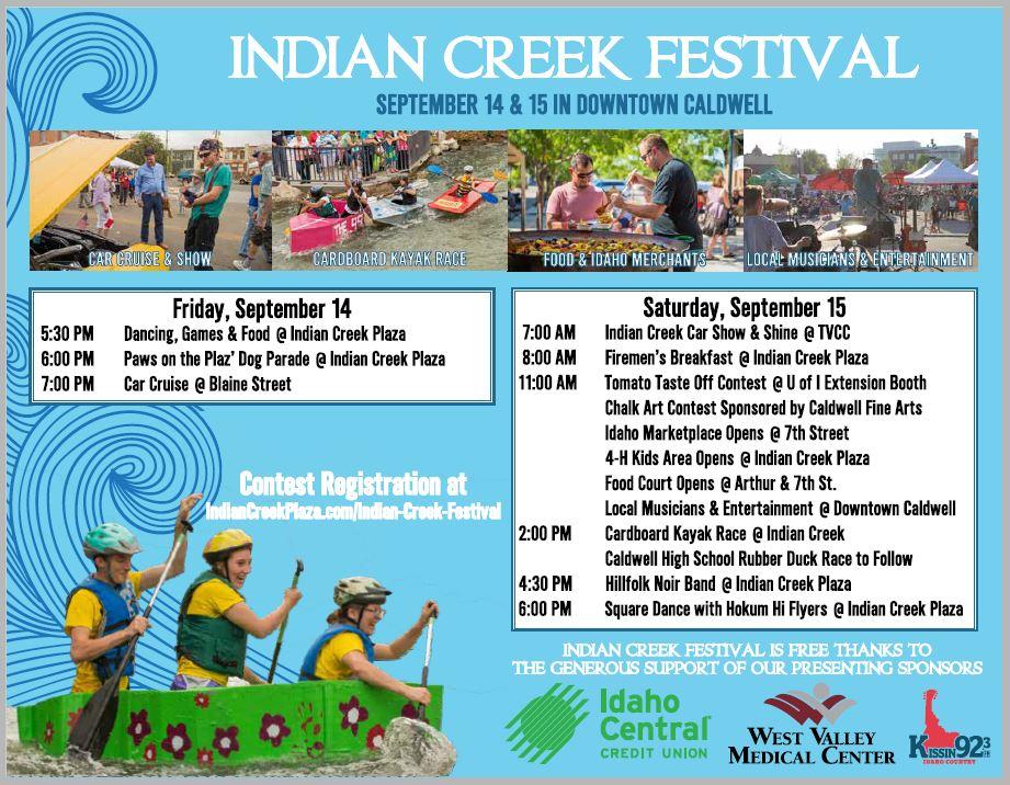 Indian Creek Festival | Custom News & Calendar | Caldwell, ID