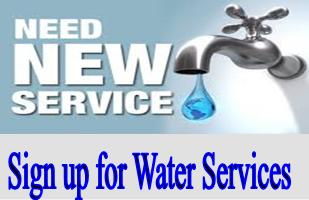 Sign up for water services link