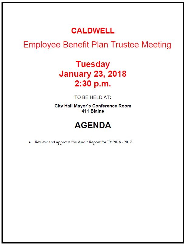 EMP Trustee Meeting 1-23-18