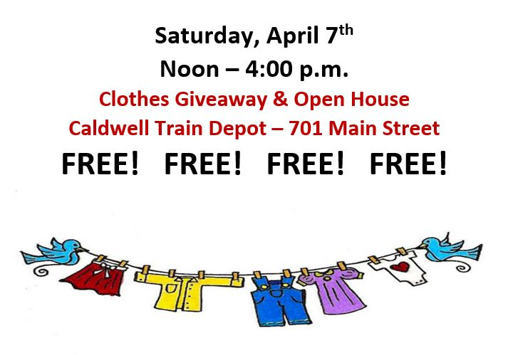 Free Clothes Giveaway And Open House Calendar Month View