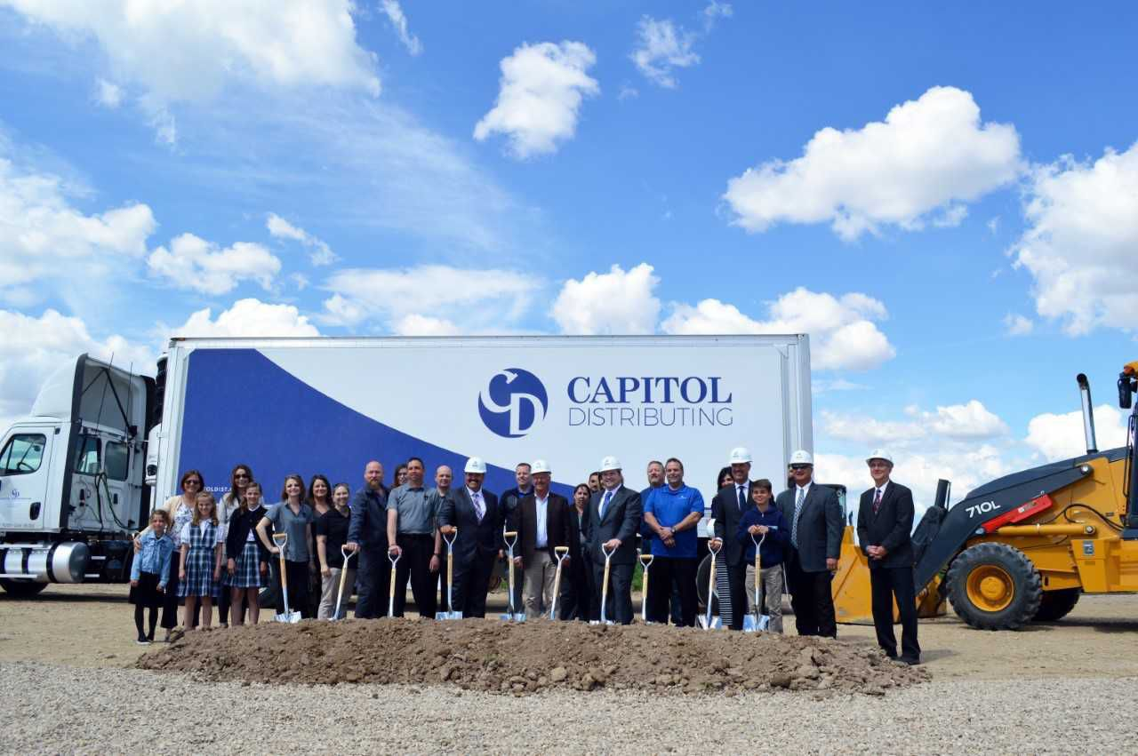 Capitol Distributing ground breaking 5-1-18