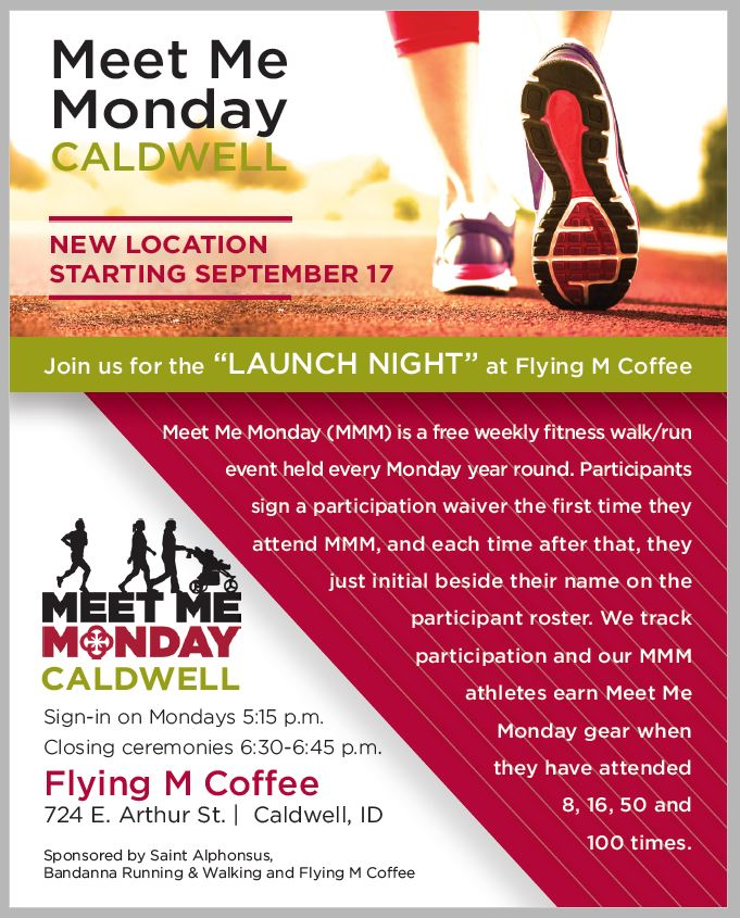 Meet Me Monday flyer - New location at Flying M