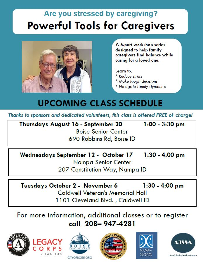 Powerful Tools for Caregivers - free classes