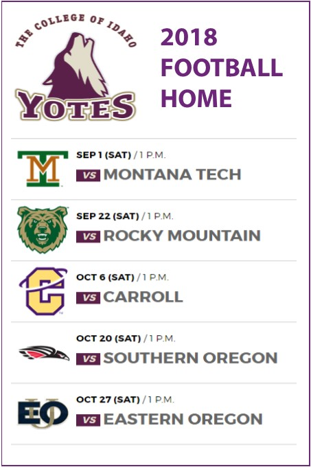 college of idaho home game football schedule