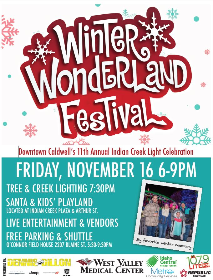 2018 Winter Wonderland Festival flyer 11-16-18