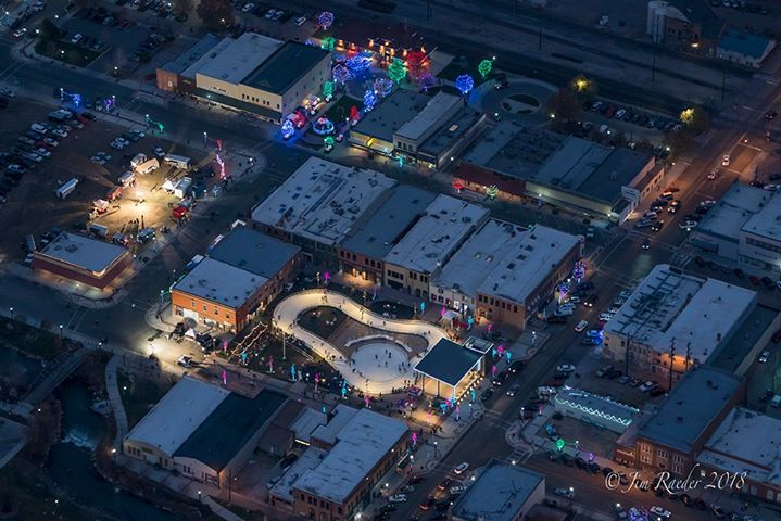 Ice skating ribbon - view from above - Nov 2018 Jim Raeder