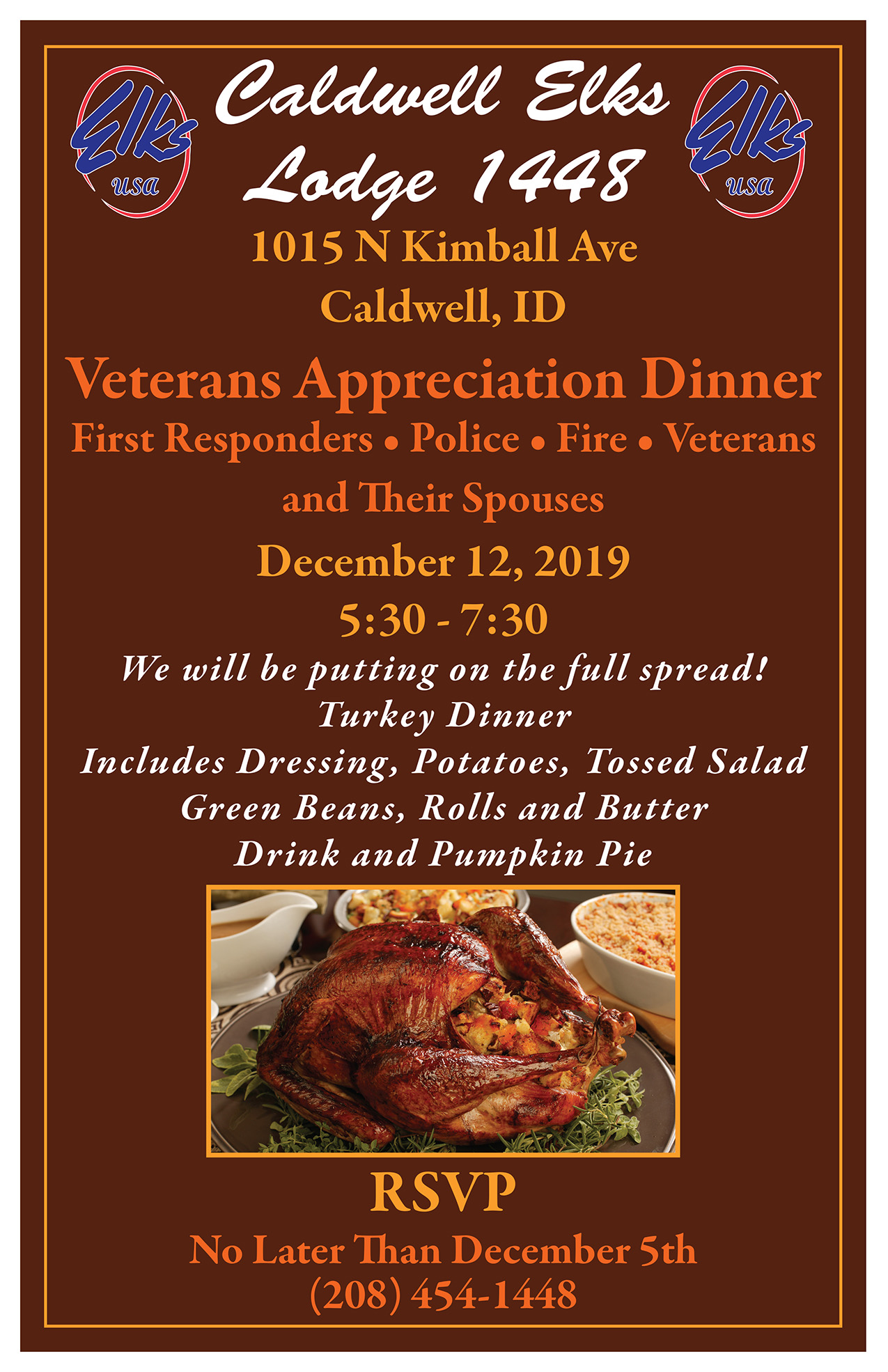 Veterans, First Responders, Police, Fire Appreciation Dinner