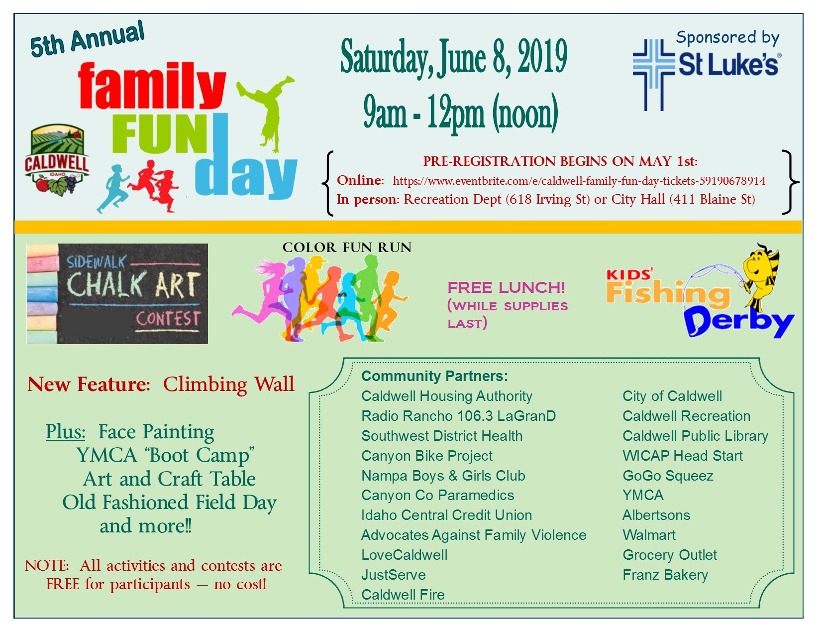 2019 Family fun day flyer - June 8, 2019 event