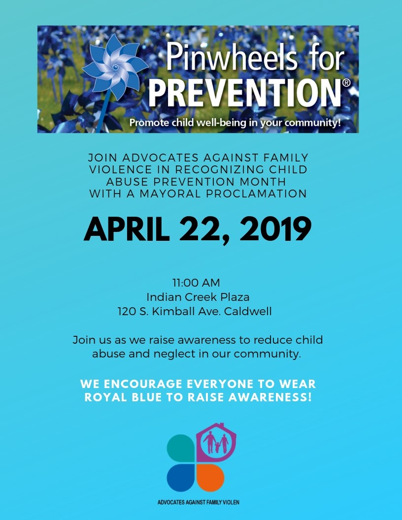 Pinwheels for Prevention 4-22-2019 at 11:00 am