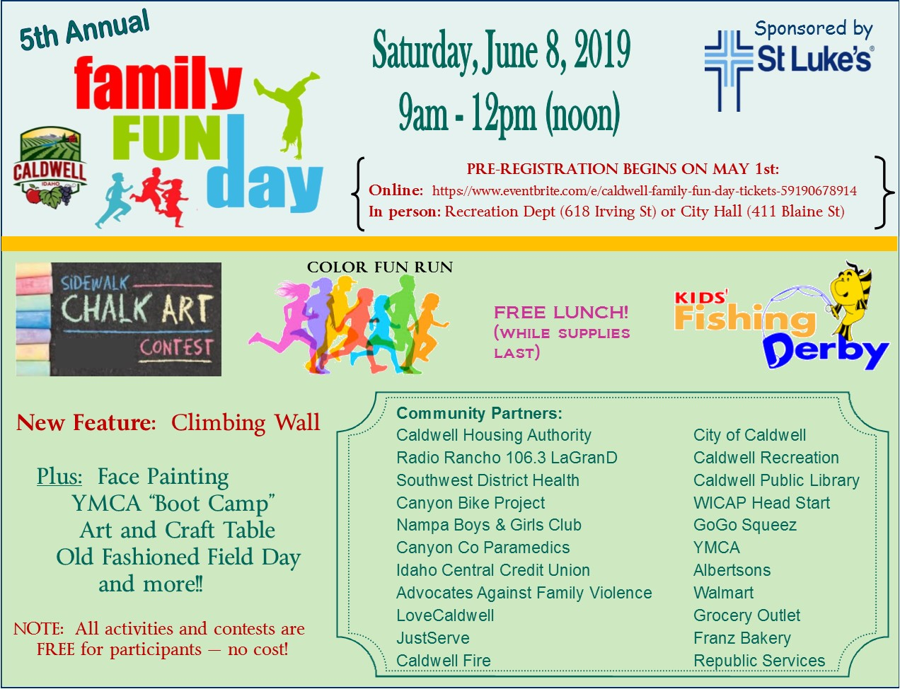 Family Fun Day information.english.June 8, 2019
