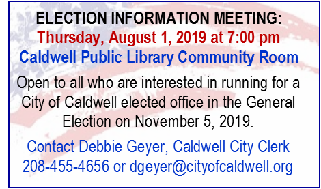 Election Information Meeting 8-1-2019