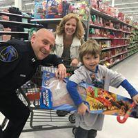 Riley shop with a cop